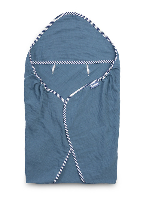 Puuvillane rätik vankrisse SINISEKS 75x75